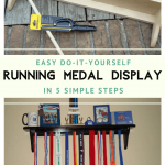 DIY Running Medal Display in 5 Easy Steps