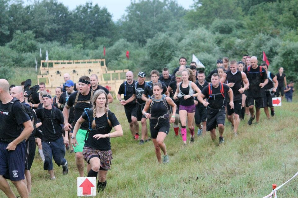 Running during an obstacle course race / mud run