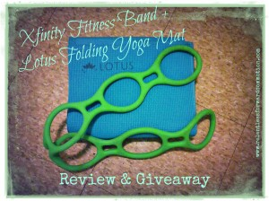 Flexibility, and My Lack Thereof:  XFinity Fitness Band & Lotus Yoga Mat Giveaway