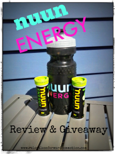 Nuun Energy Review & Giveaway