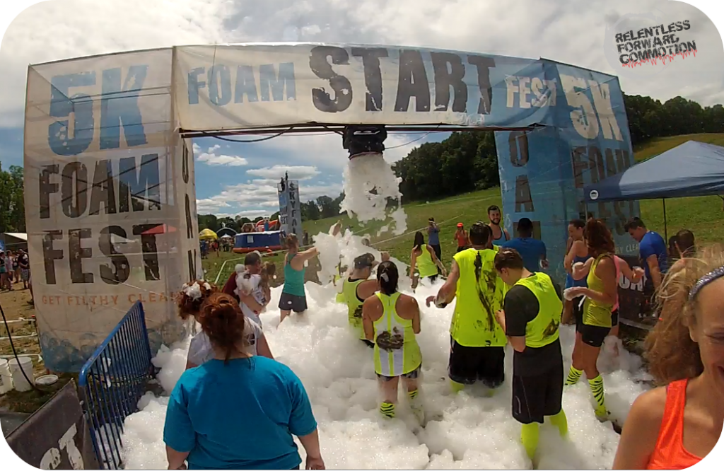 5K Foam Fest start line