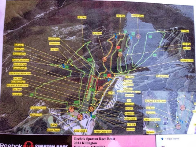 Vermont Spartan Beast Course Map