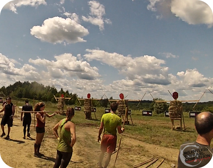 Boston Spartan Sprint spear throw