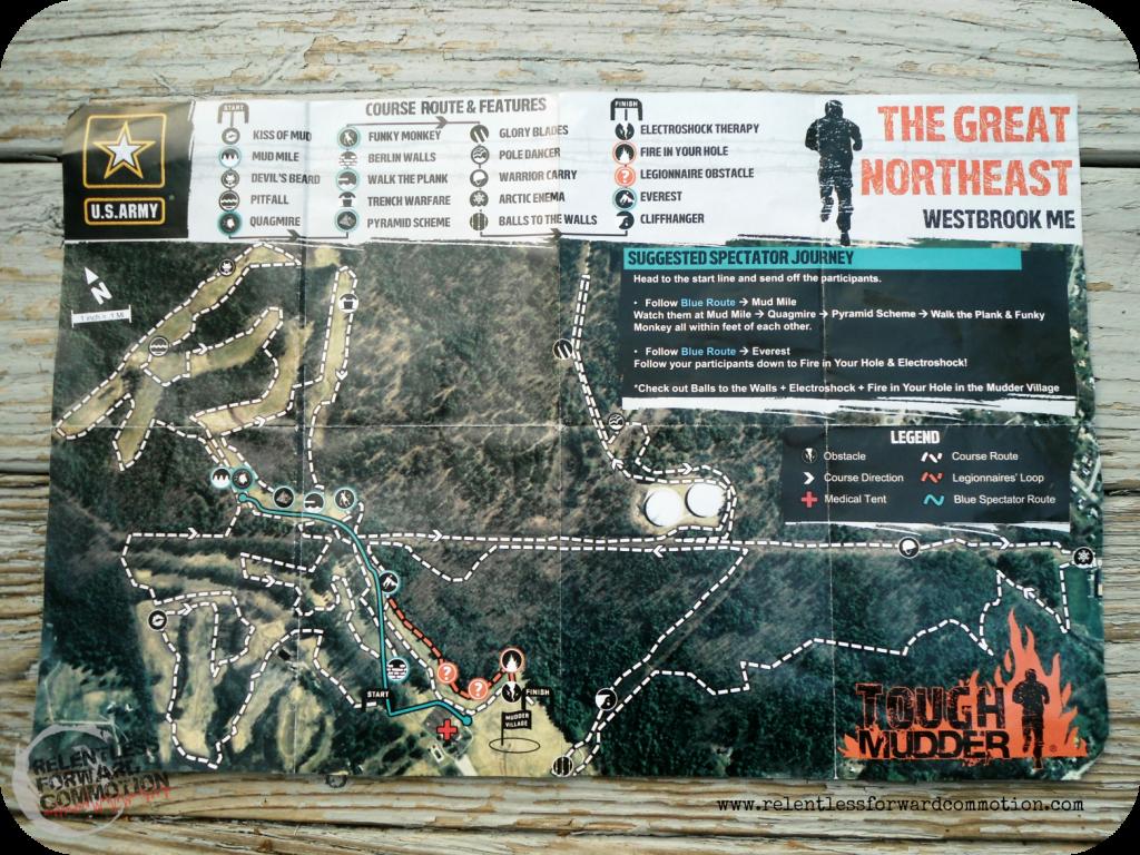 Tough Mudder the Great NorthEast CourseMap