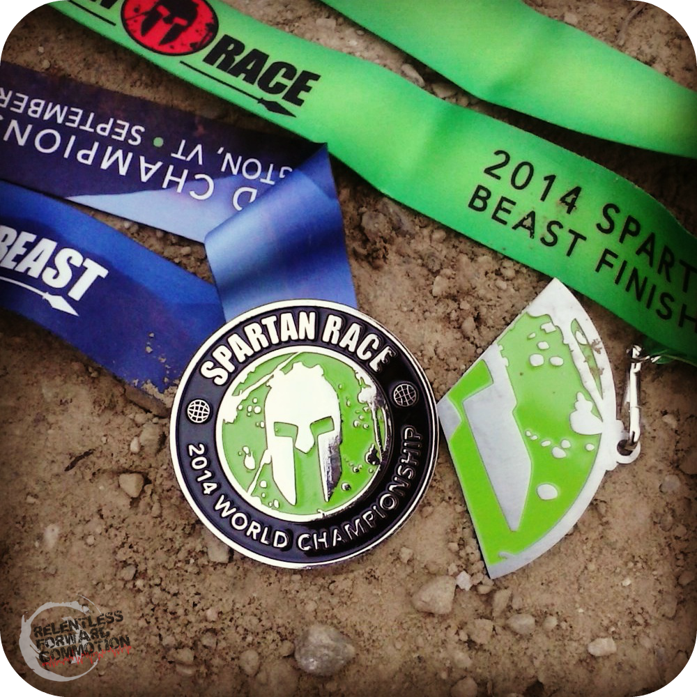 2014 Vermont Spartan Beast Medal