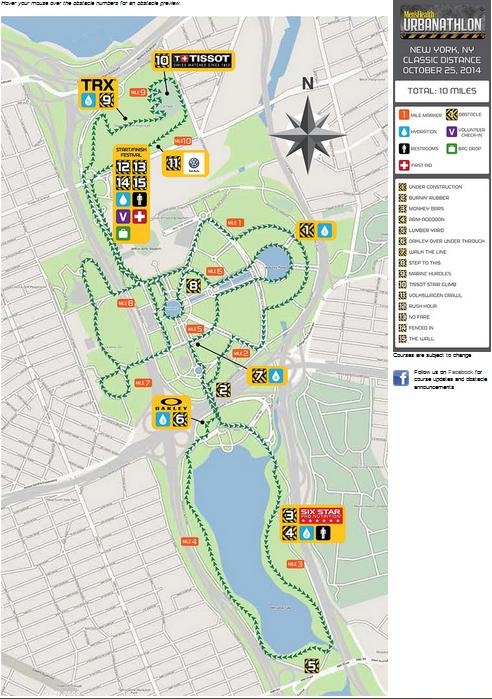 MHUrbanathlon Map NY 2014