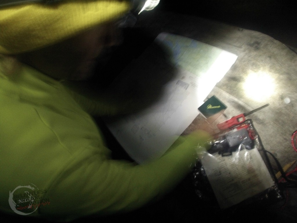 Orienteering in the middle of the night
