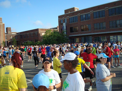 Race recap and full review of the 2009 Survivor Harbor 7 mile road race in Baltimore, MD, with Team Fight / Cancer to 5K.