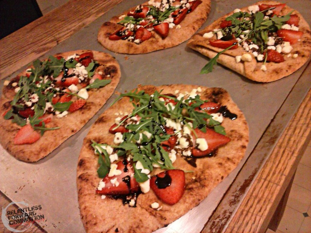 Strawberry Goat Cheese Naan Pizza