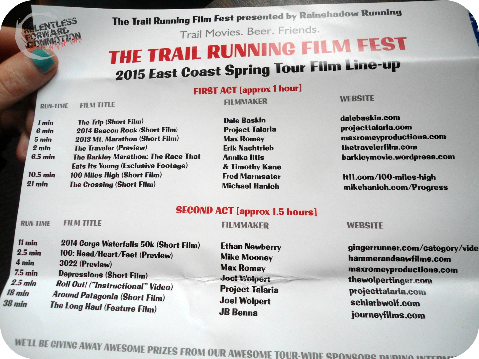 Lineup Trail Running Film Festival
