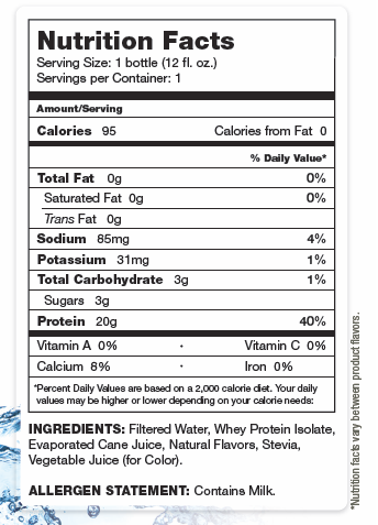 About Time Pro Hydrate Nutrition Facts