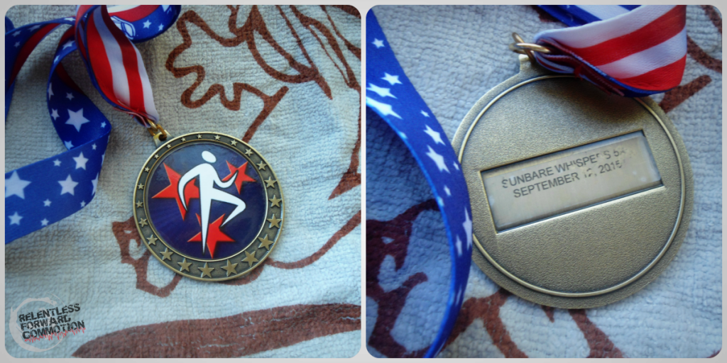 Sunbare Whispers 5K medal