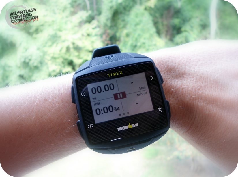 Timex Ironman GPS ONE run screen