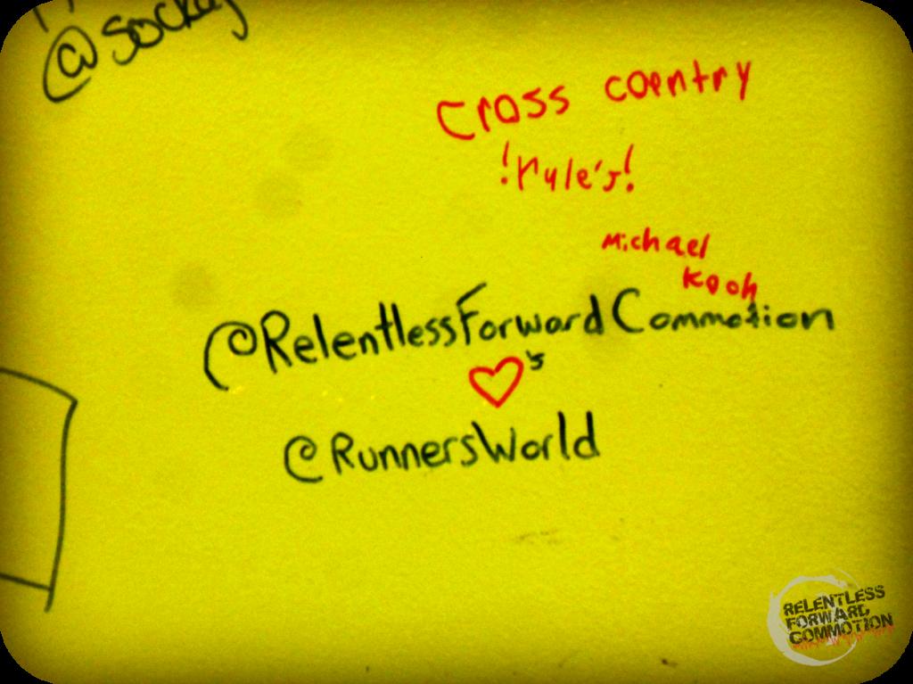 Runner's World Wall