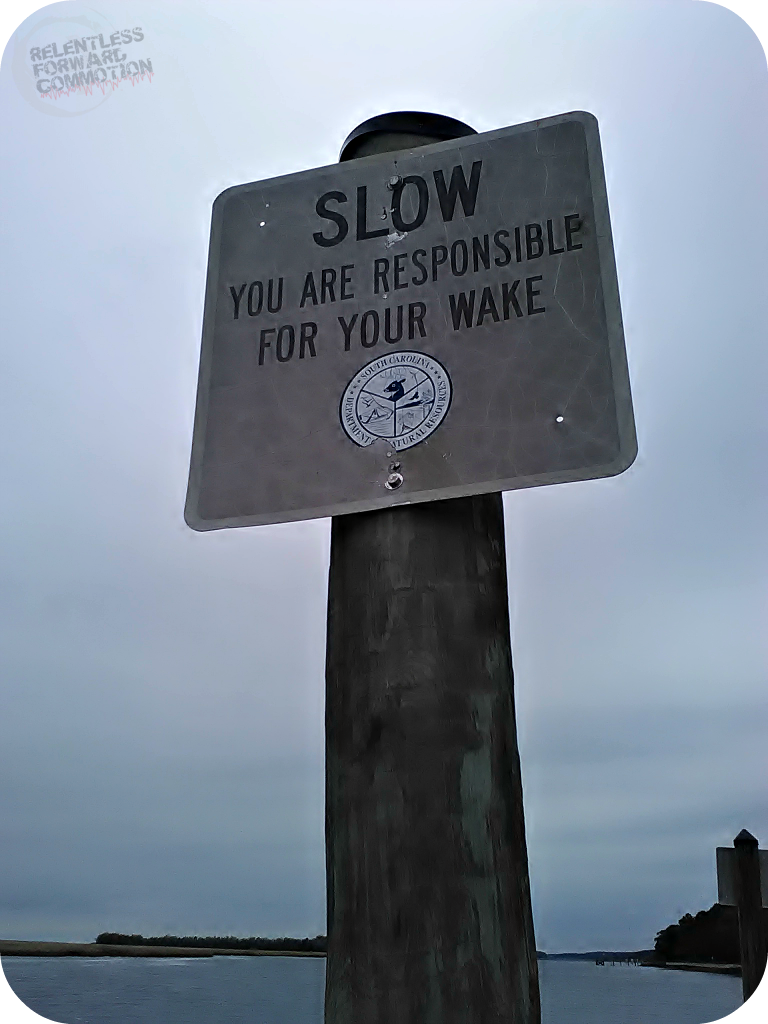 Responsible for your wake