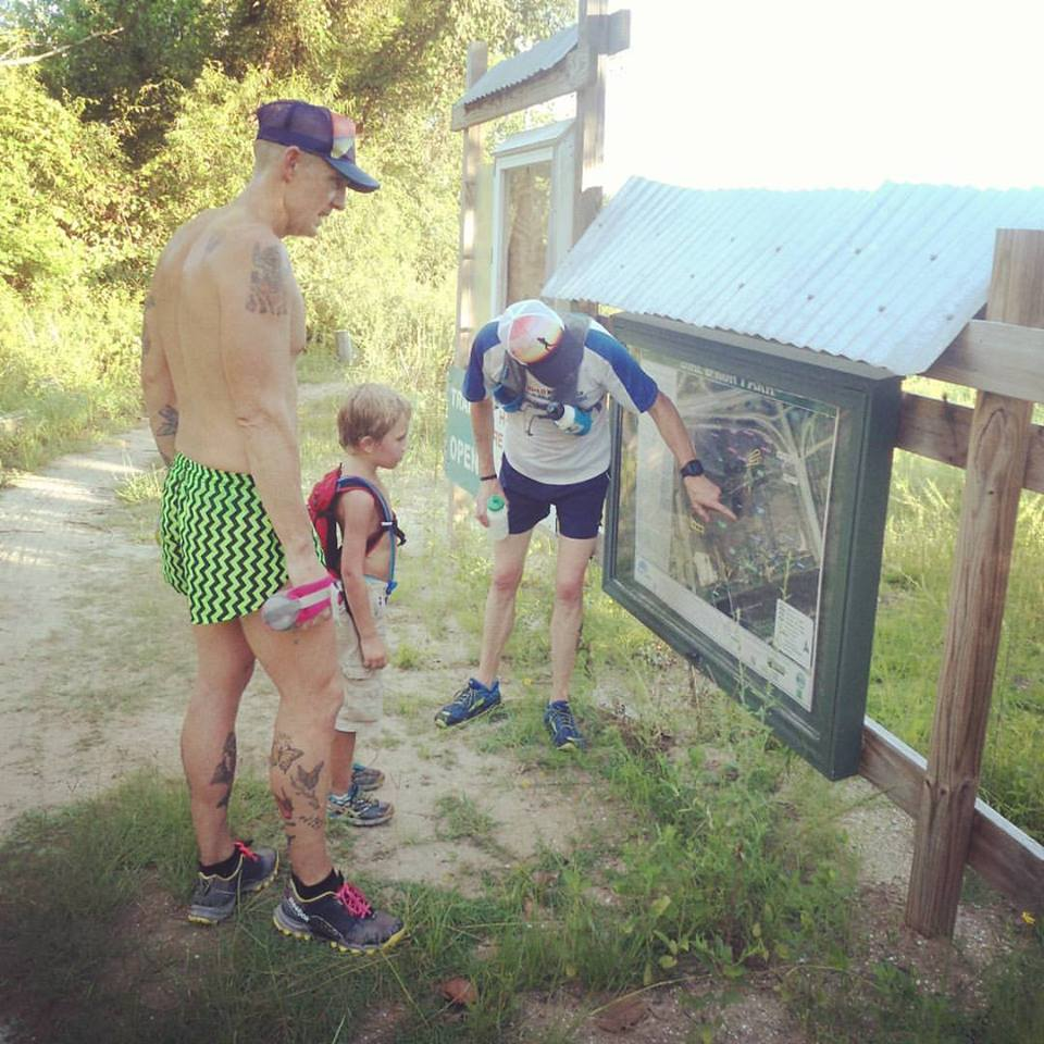 It takes a village to raise a tiny trail runner