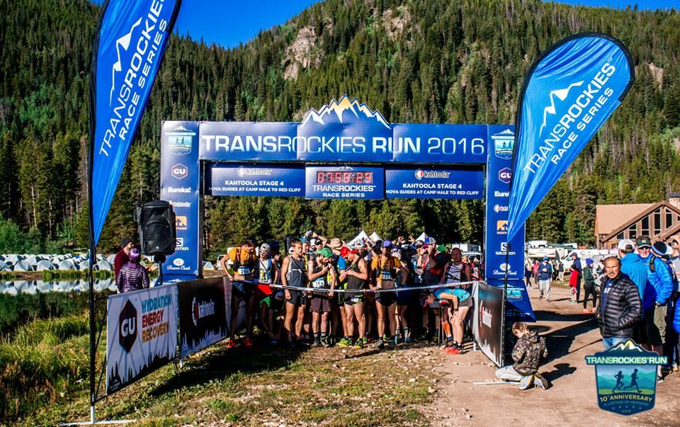 Transrockies Run Multi day running event starting line