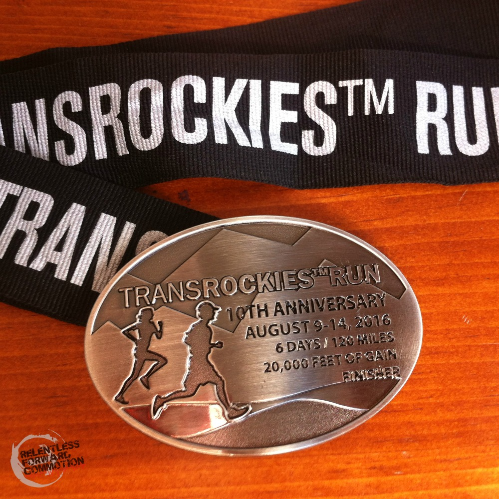 TransRockies Run Belt Buckle Medal