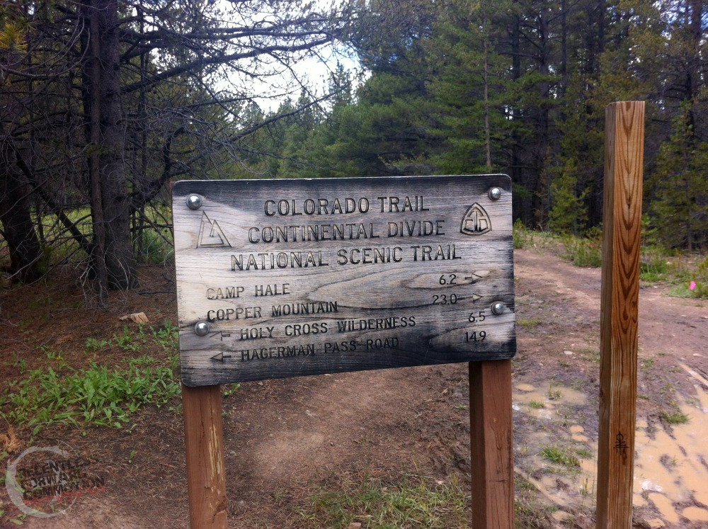 continental divide trail sign