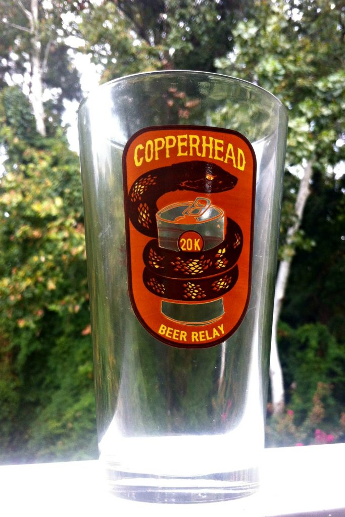 copperhead 20K pint glass