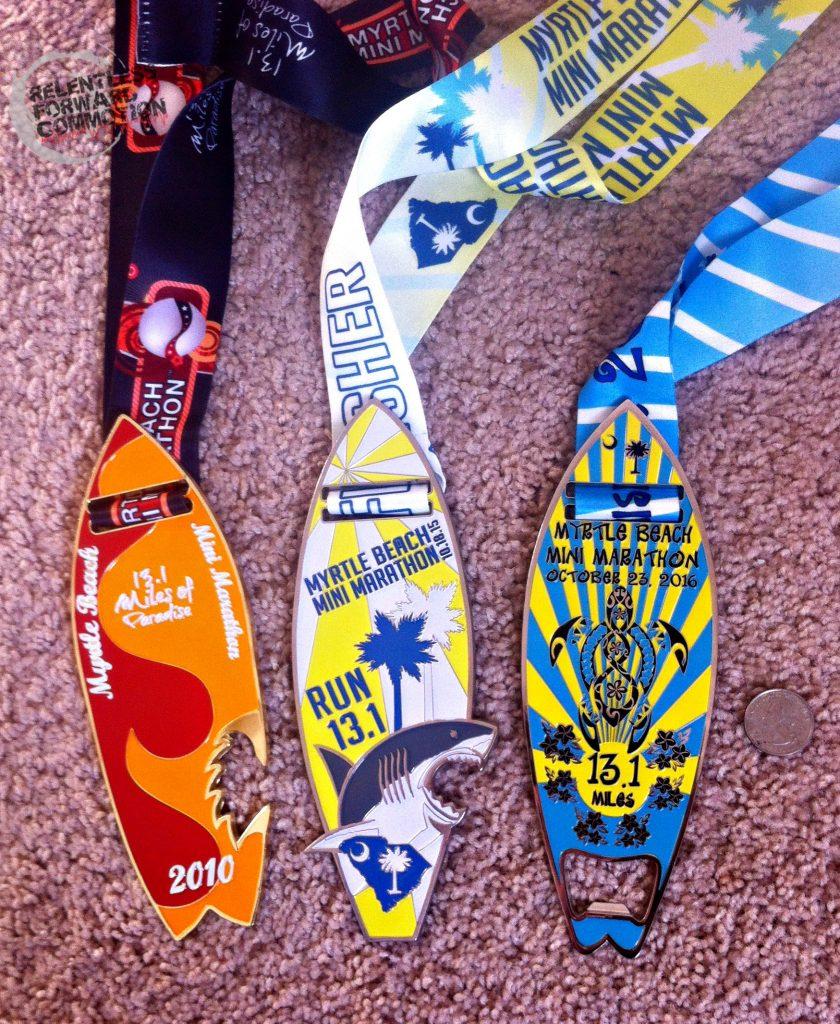 Myrtle Beach Mini Marathon medals