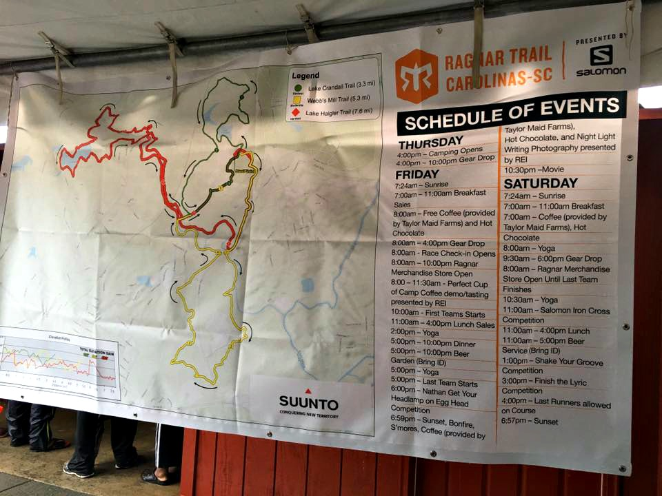 Ragnar Trail Carolinas map