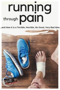 Running Through Pain…and How it is a Terrible, Horrible, No Good, Very Bad Idea.
