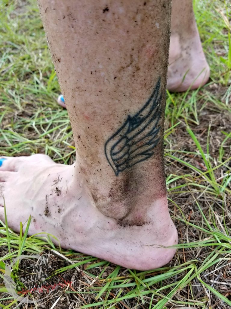What to expect at your first trail race: dirty feet!