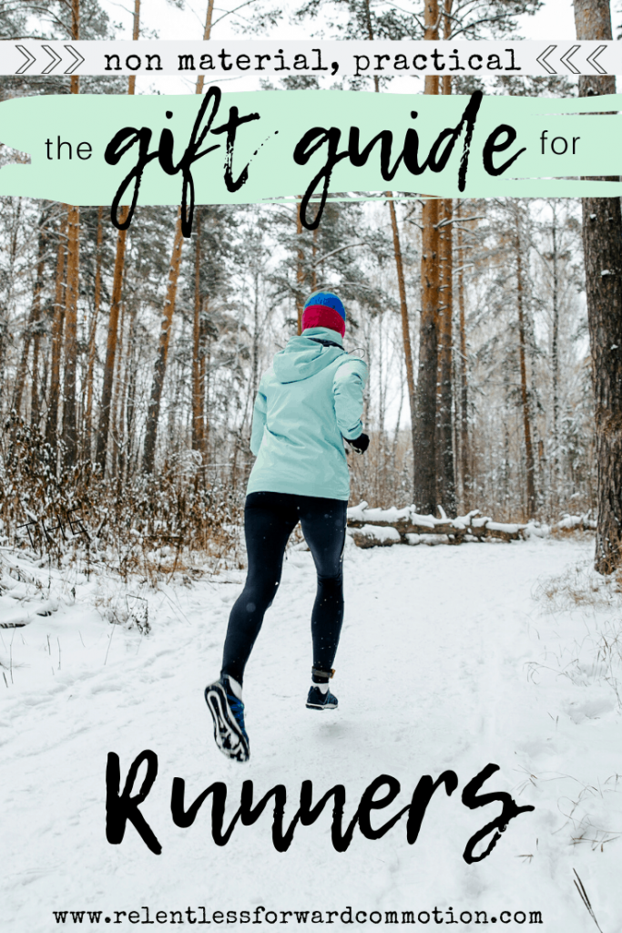 Non material, practical, holiday gift guide for runners