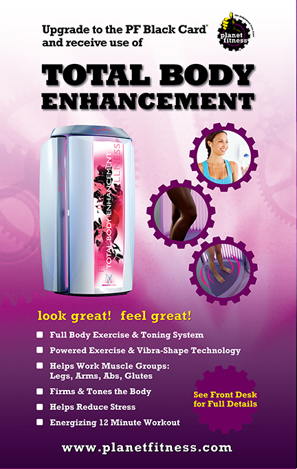 Advertisement for the Total Body Enhancement at Planet Fitness