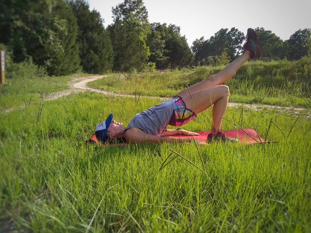 Single Leg Glute Bridges for Trail runners