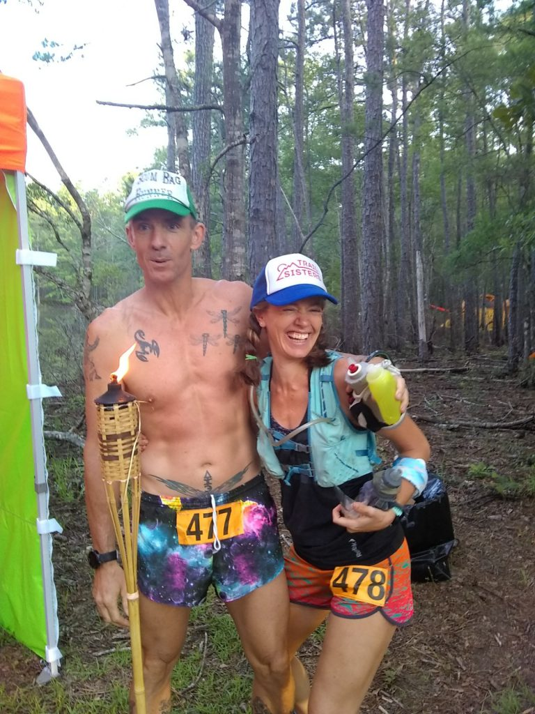 Geoffrey & Heather Hart before an ultramarathon