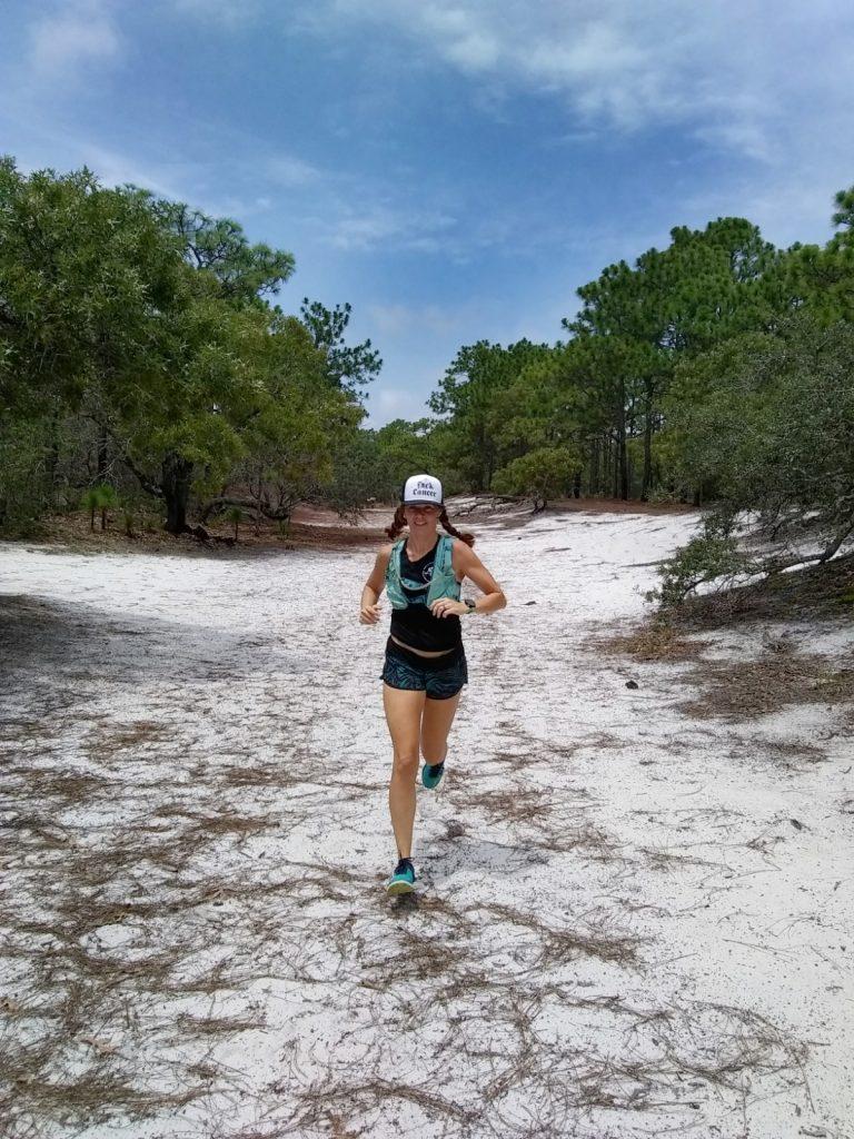 Running through Carolina Beach State Park