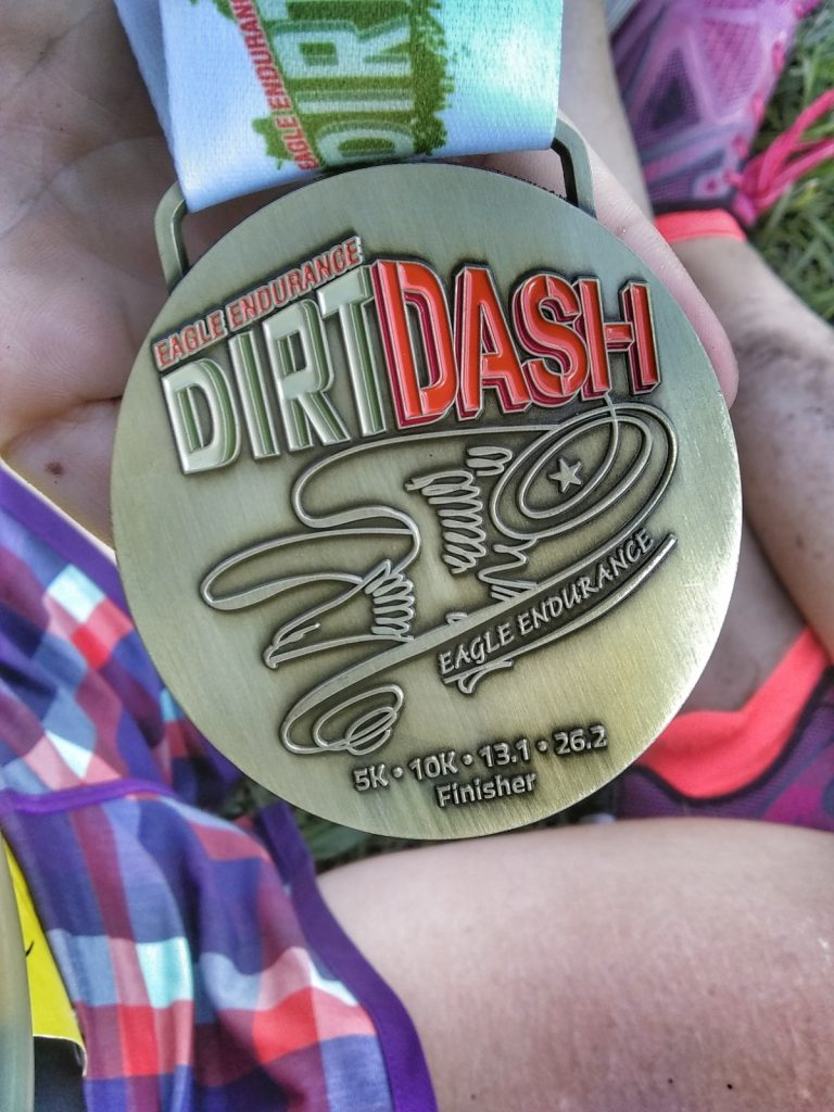 2018 Dirt Dash medal