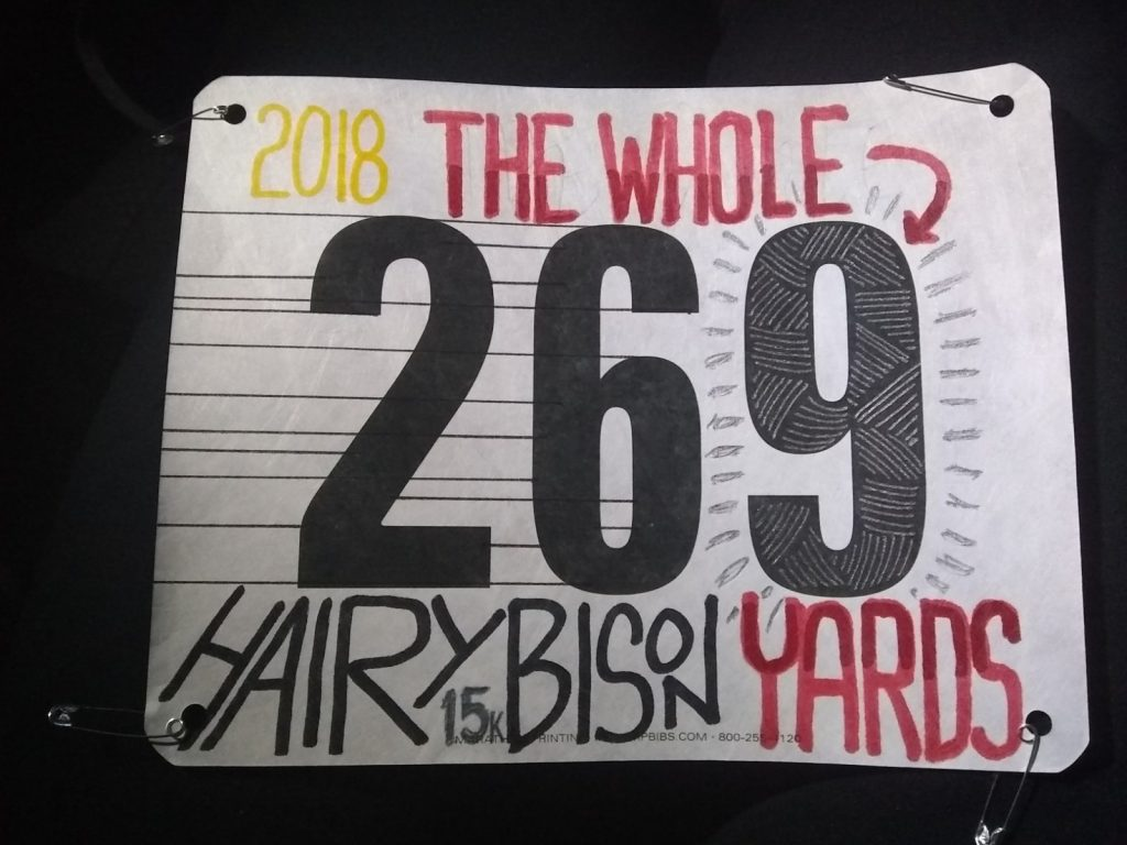 2018 Hairy Bison Bib