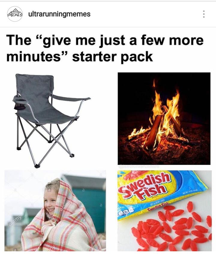 ultrarunning memes chair starter pack