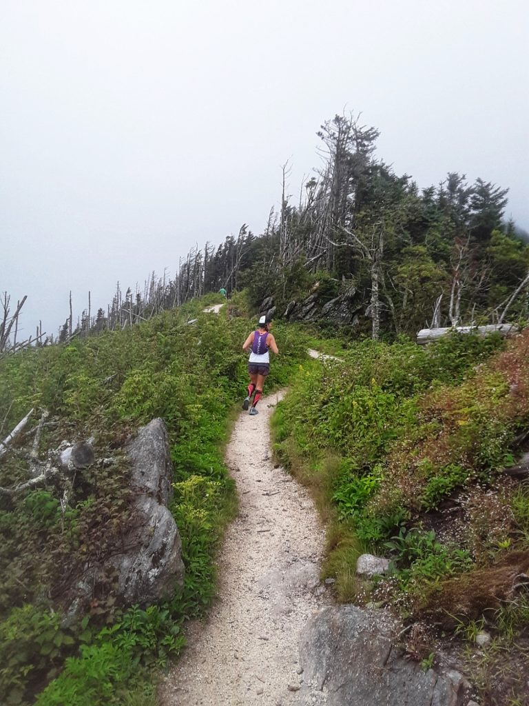 Heather Hart running Mt. Mitchell