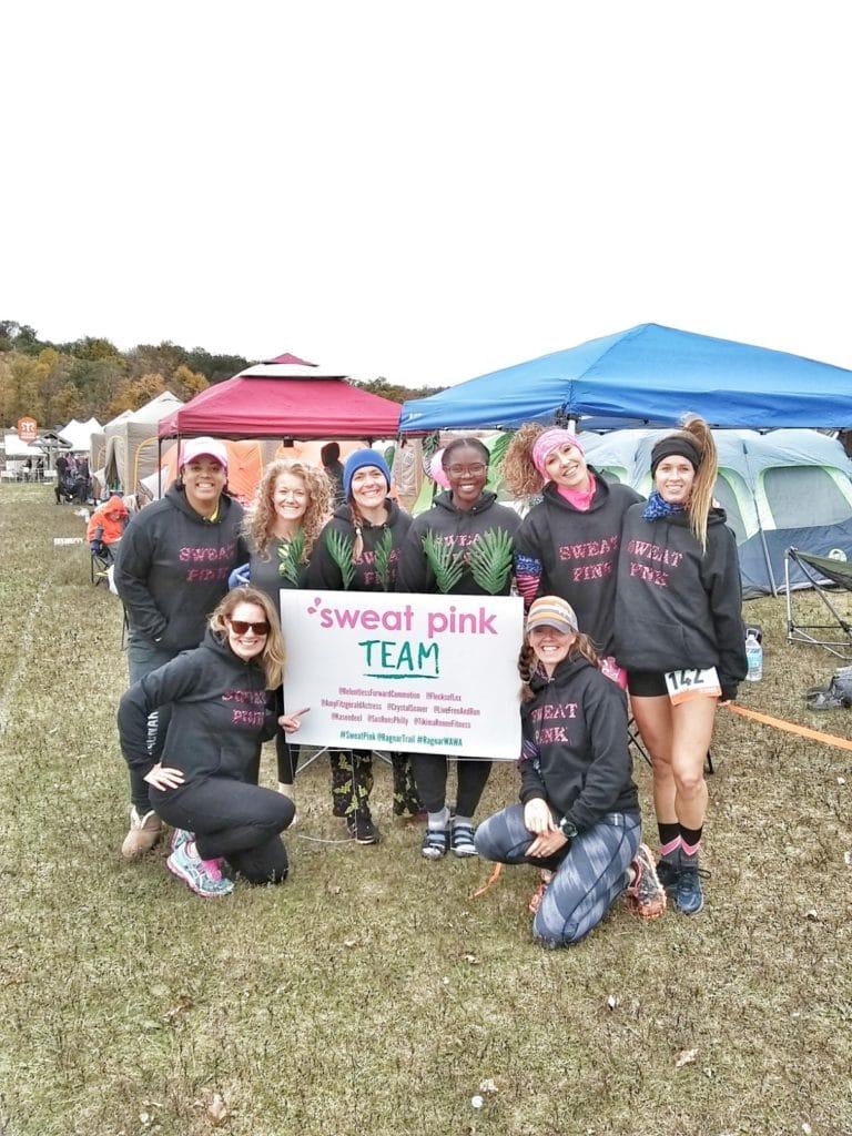 Team Sweat Pink at Ragnar Trail Relay Lake Wawayanda