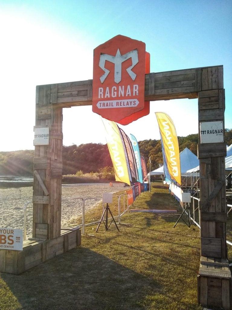 Finish line - Ragnar Trail Relay Lake Wawayanda