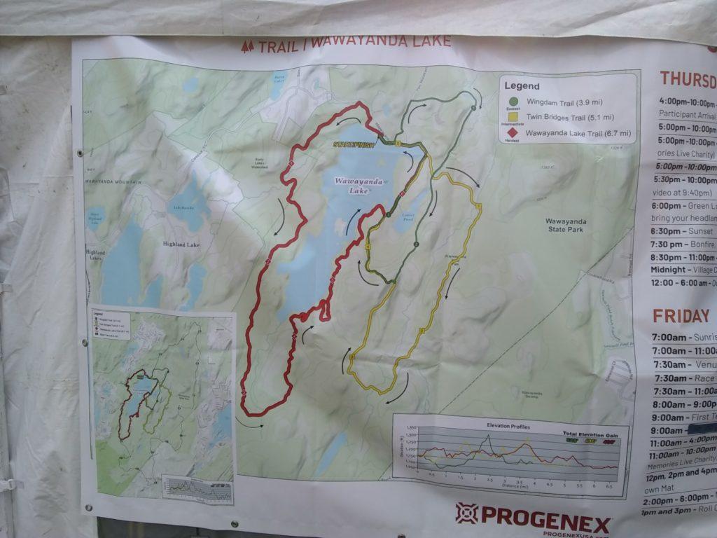Ragnar Trail Relay Wawayanda Lake Map
