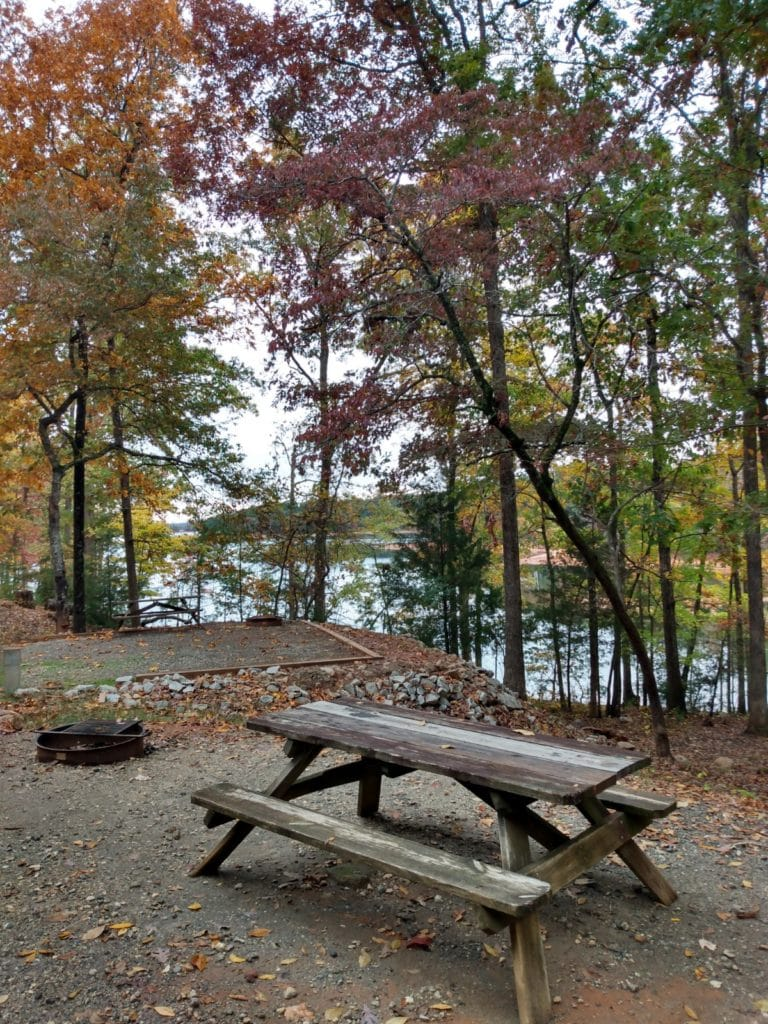 Sadlers Creek State Park Campground overlooking Lake Hartwell