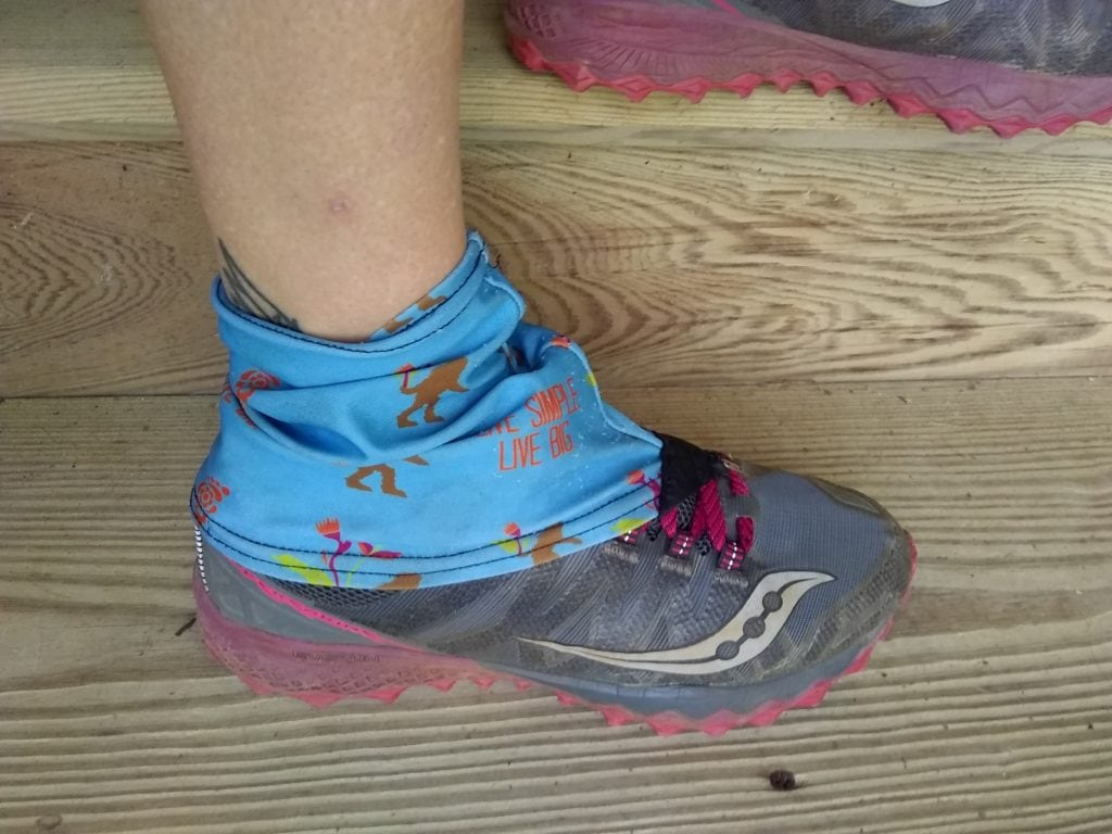 Gaiters keep junk out of your trail running shoes