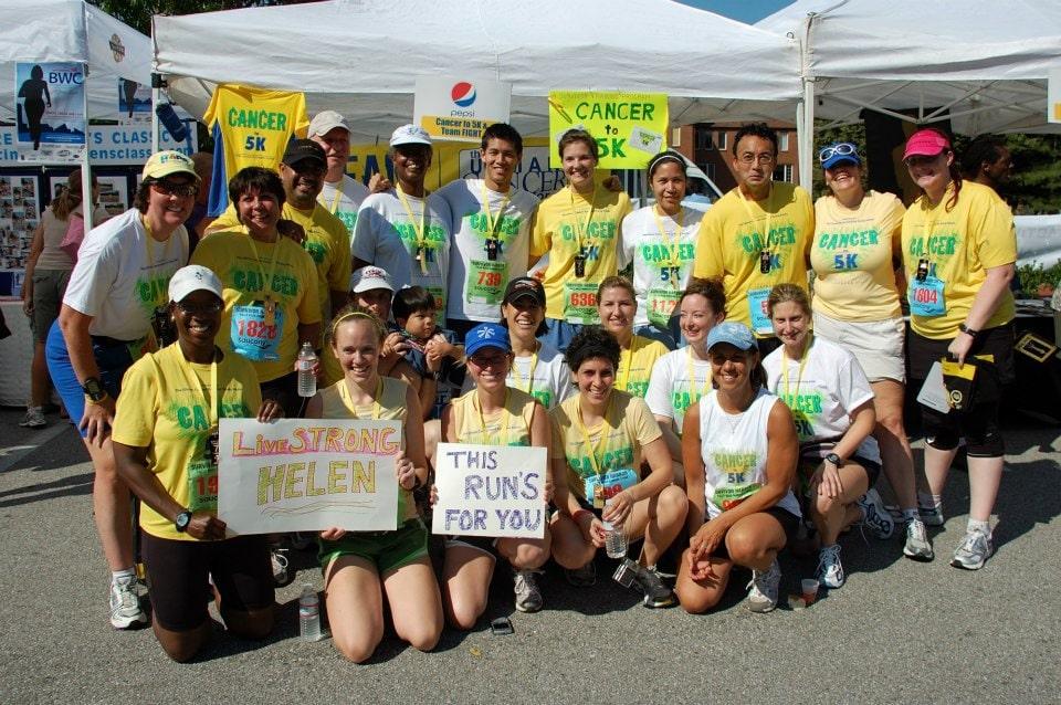 Cancer to 5K group, 2009 Survivor Harbor Race, Baltimore MD