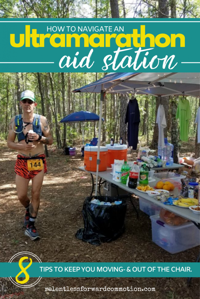 Ultramarathon aid stations are an oasis of happiness in the middle of a long day of suffering.  They can also be an unnecessary time suck.  Here are 8 tips to keep you moving (and out of the chair) as you successfully navigate ultramarathon aid stations.