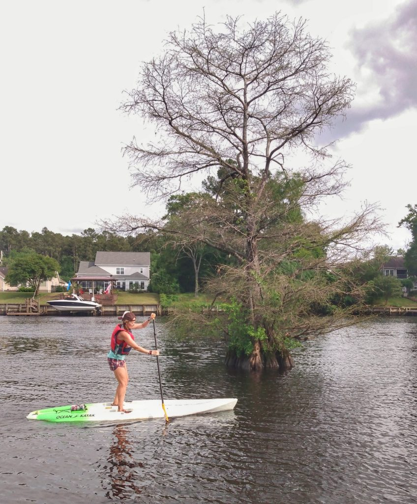 Heather Hart on stand up kayak