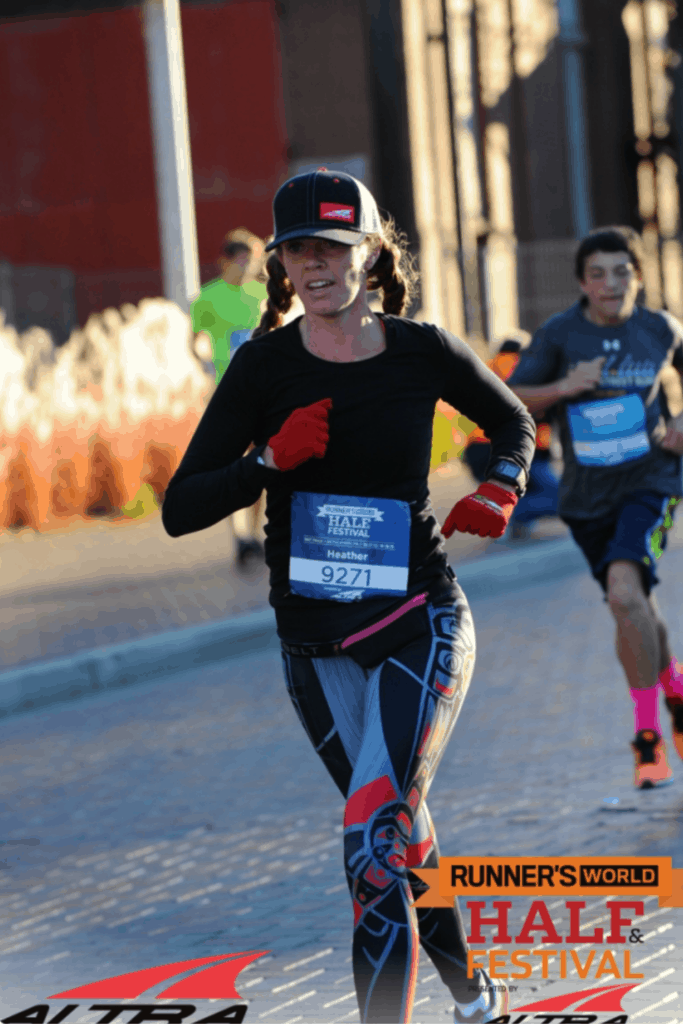 Heather Hart running Runners' World Half Marathon