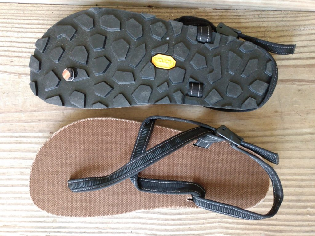 Bottom and top view of Earth Runner's Cadence Adventure Sandals