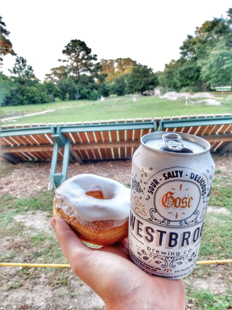 Beer and a donut