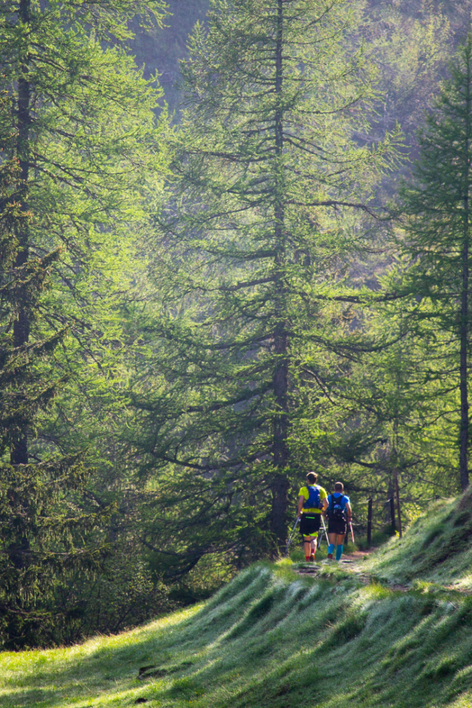 Passing others while trail running