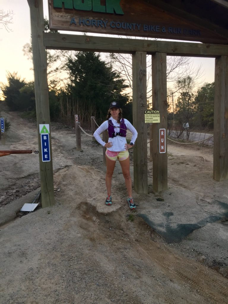 Heather Hart at the Horry County Bike & Run Park